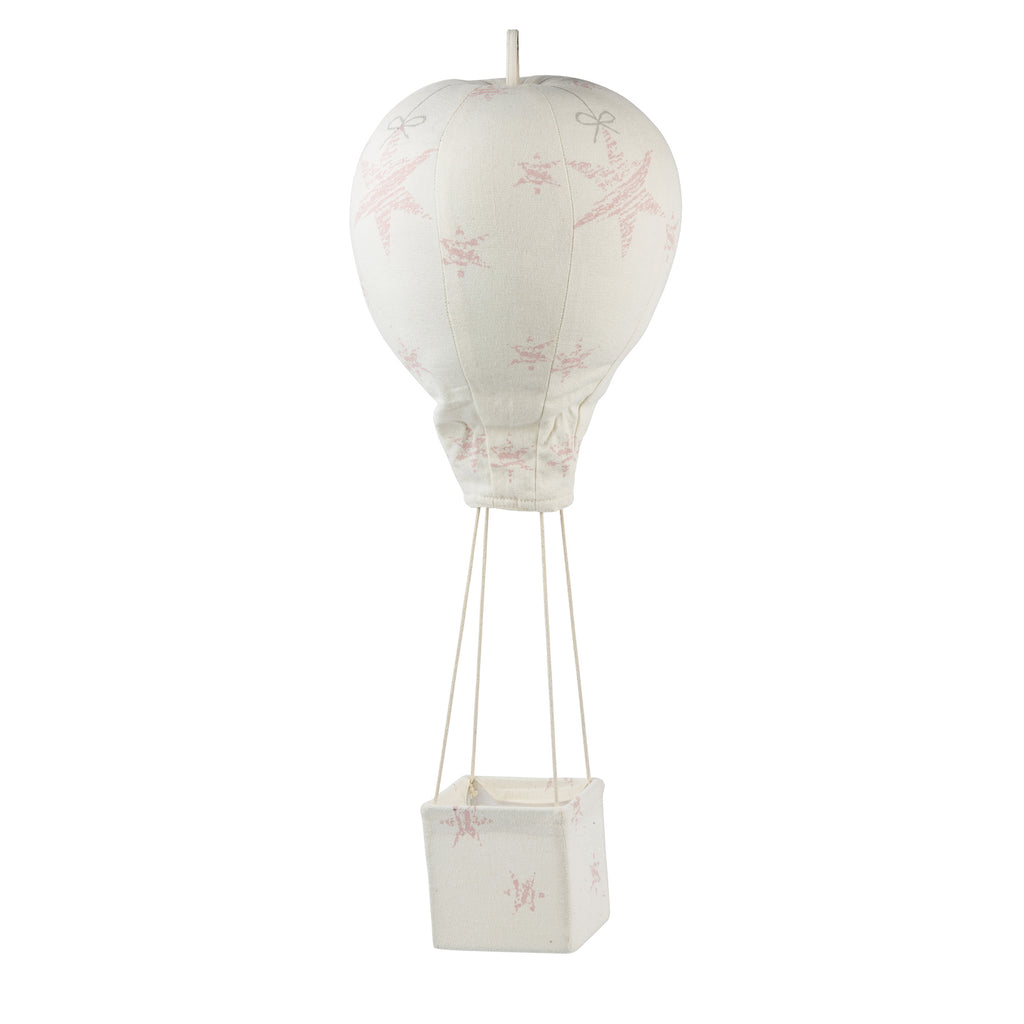 Light Pink Stars Hot Air Balloon Mobile