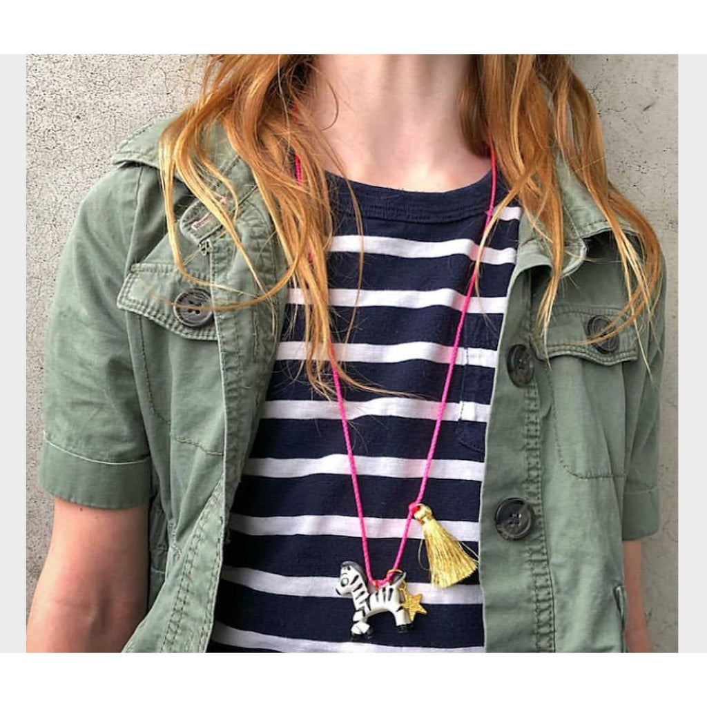 Zoe the Zebra Necklace by Gunner & Lux