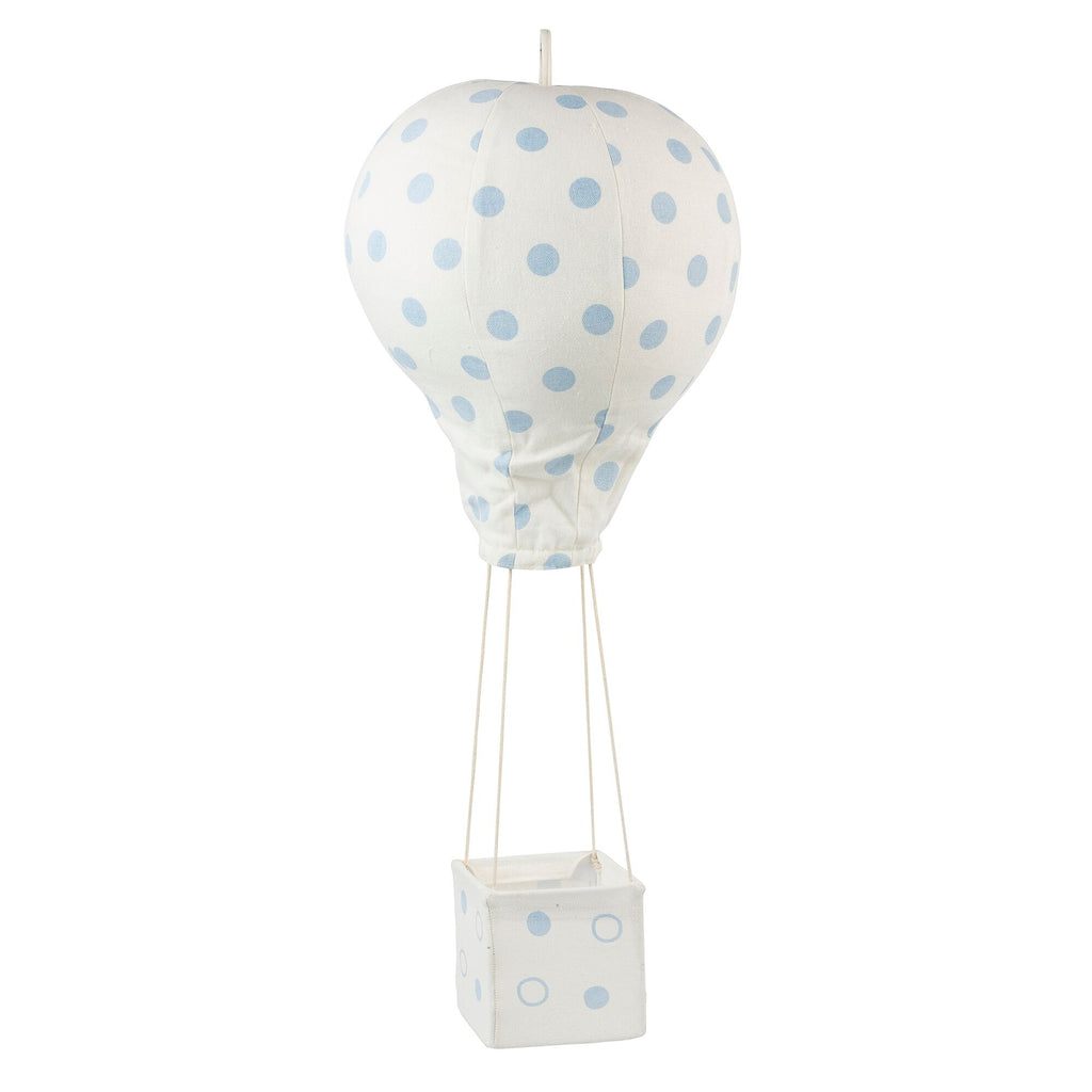 Light Blue Polka Dot Hot Air Balloon Mobile