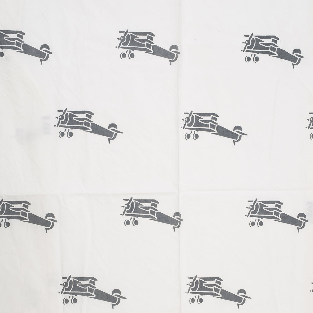 Gray Airplane Crib Sheet