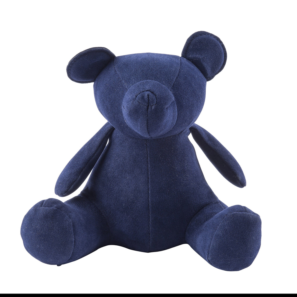 Navy Teddy Bear Weighted Bookend or Desk Accessory
