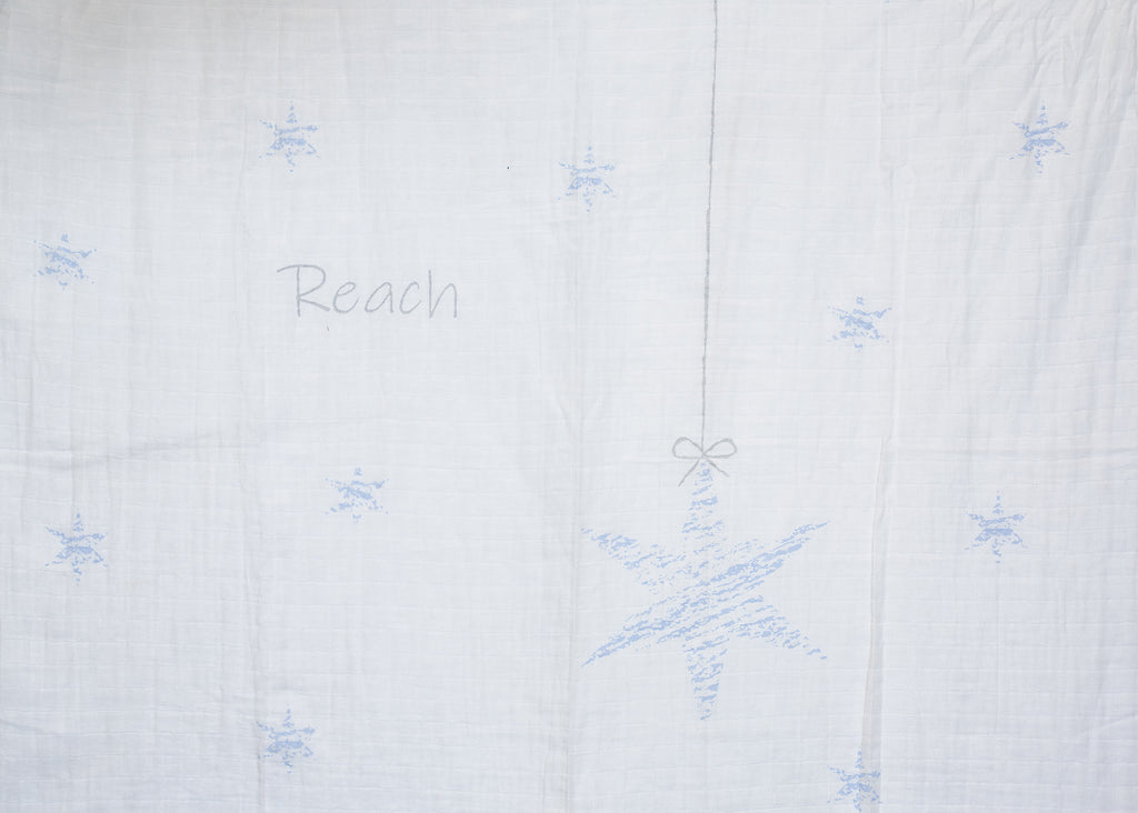 Light Blue Reach for the Stars Swaddle