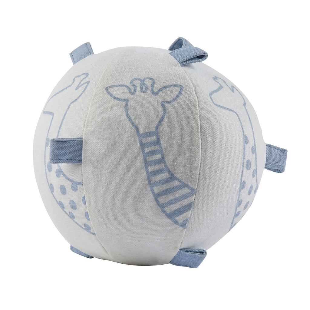 Light Blue STRETCH the GIRAFFE Rattle Ball