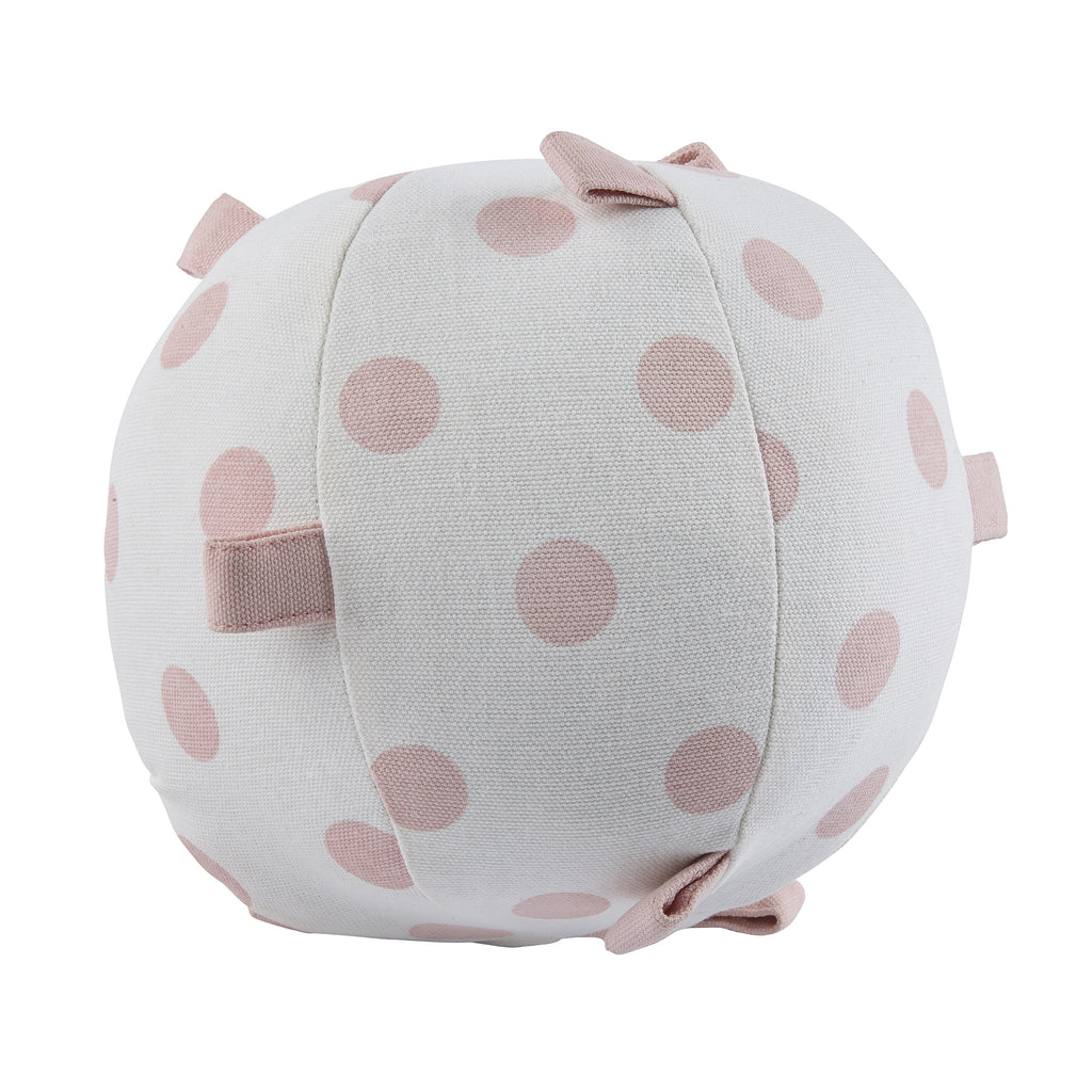 Pink Polka Dot Sensory Rattle Ball