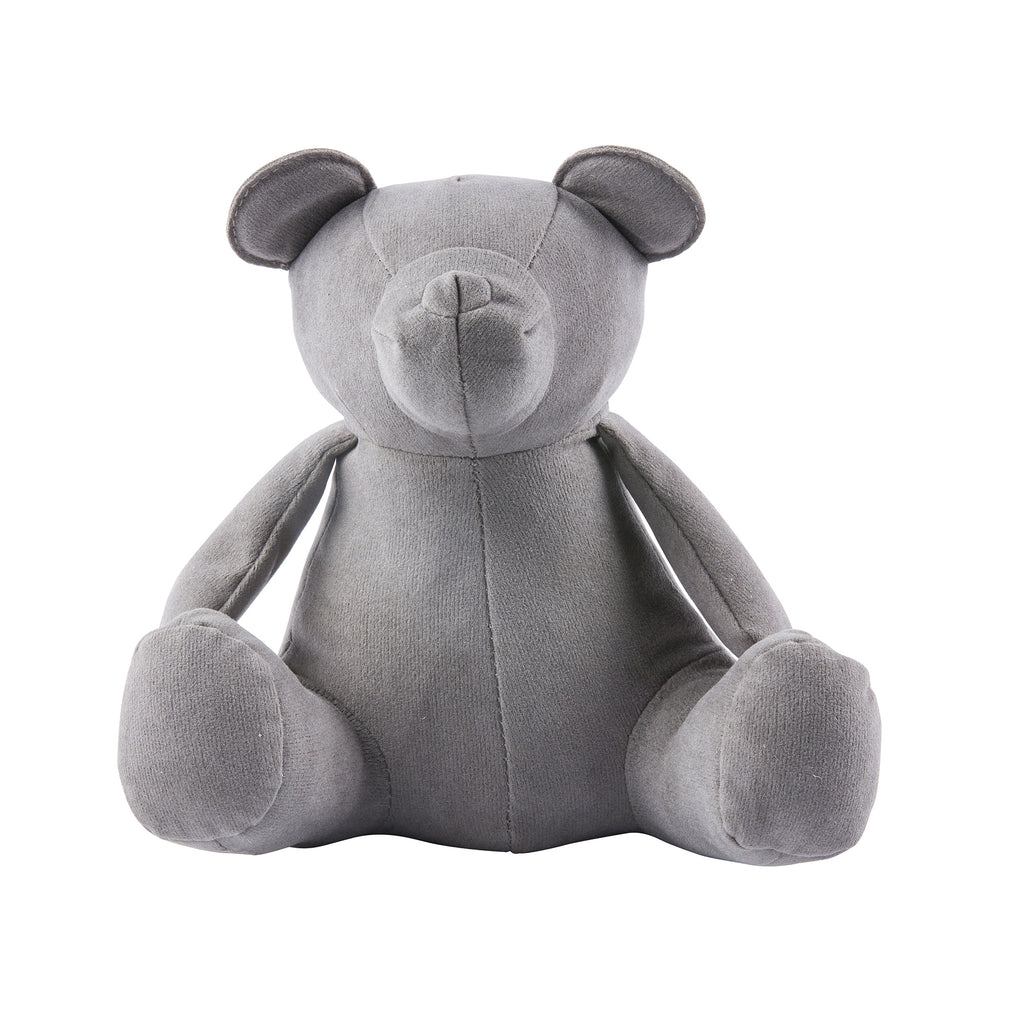 Gray Teddy Bear Weighted Bookend or Desk Accessory