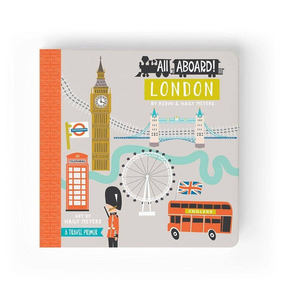 All Aboard London Children's Board Book