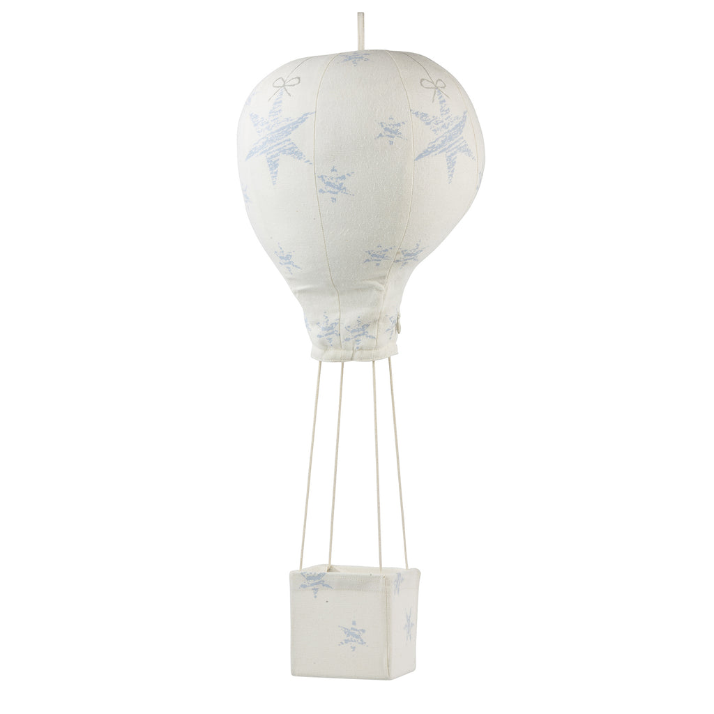 Light Blue Stars Tied On a String  Hot Air Balloon Mobile