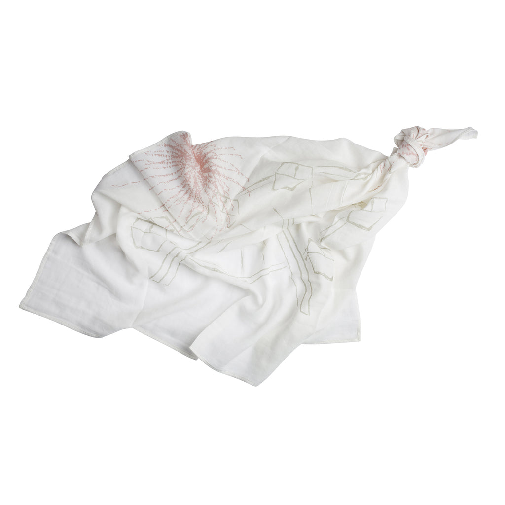 Light Pink Reach for the Stars Baby Swaddle