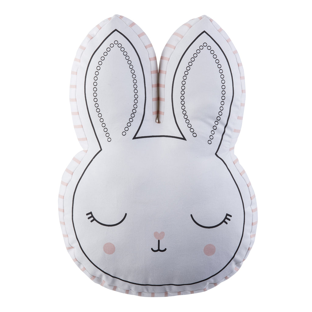 Pink Bunny Cut Out Pillow