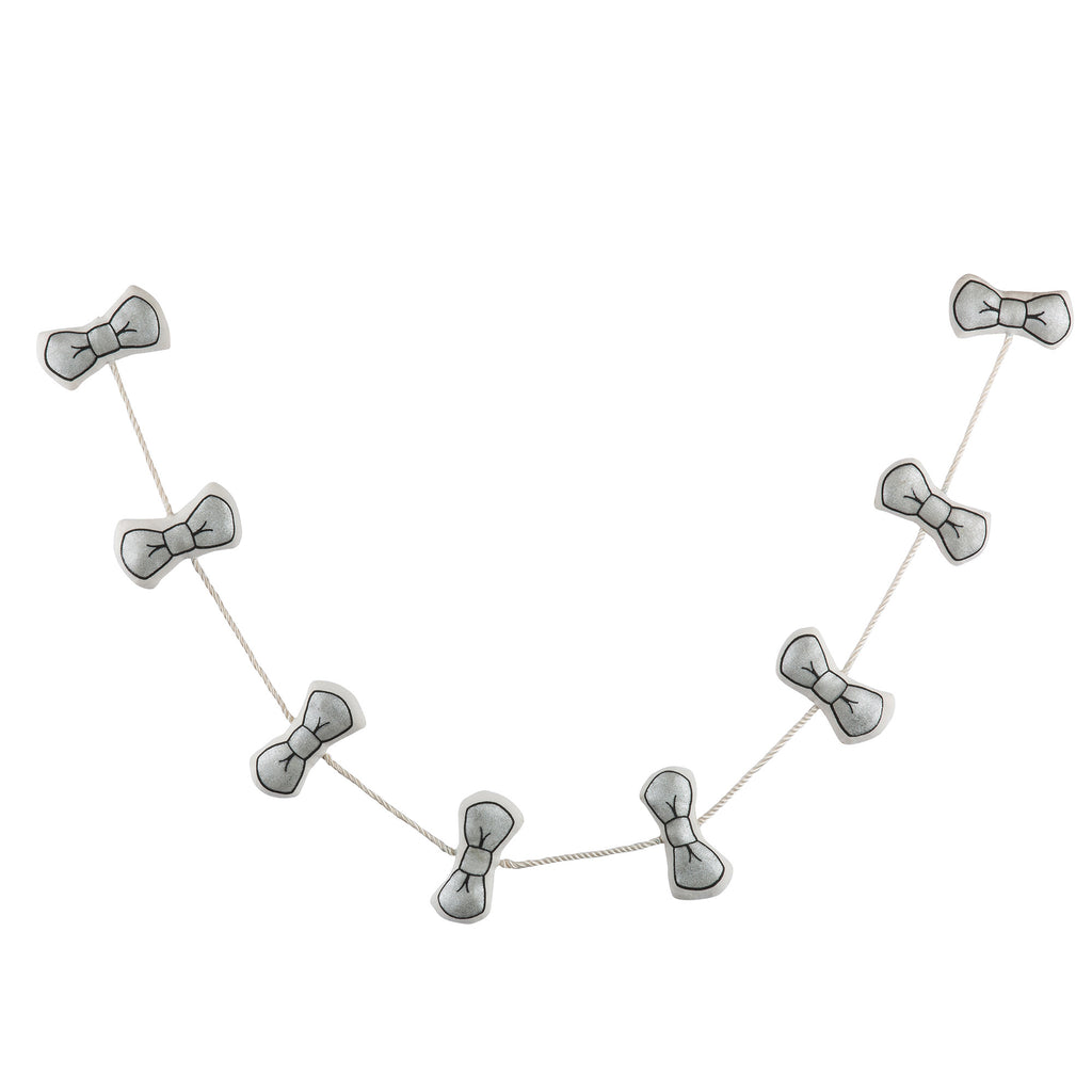 Silver Bowties Garland
