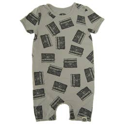 Allover Boom Box Romper by Mini Shatsu