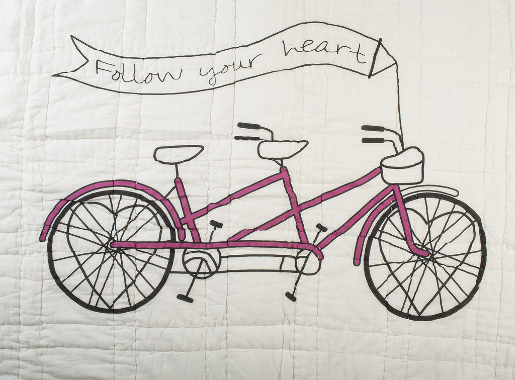Lil' Pyar Follow Your Heart Reversible Twin Quilt