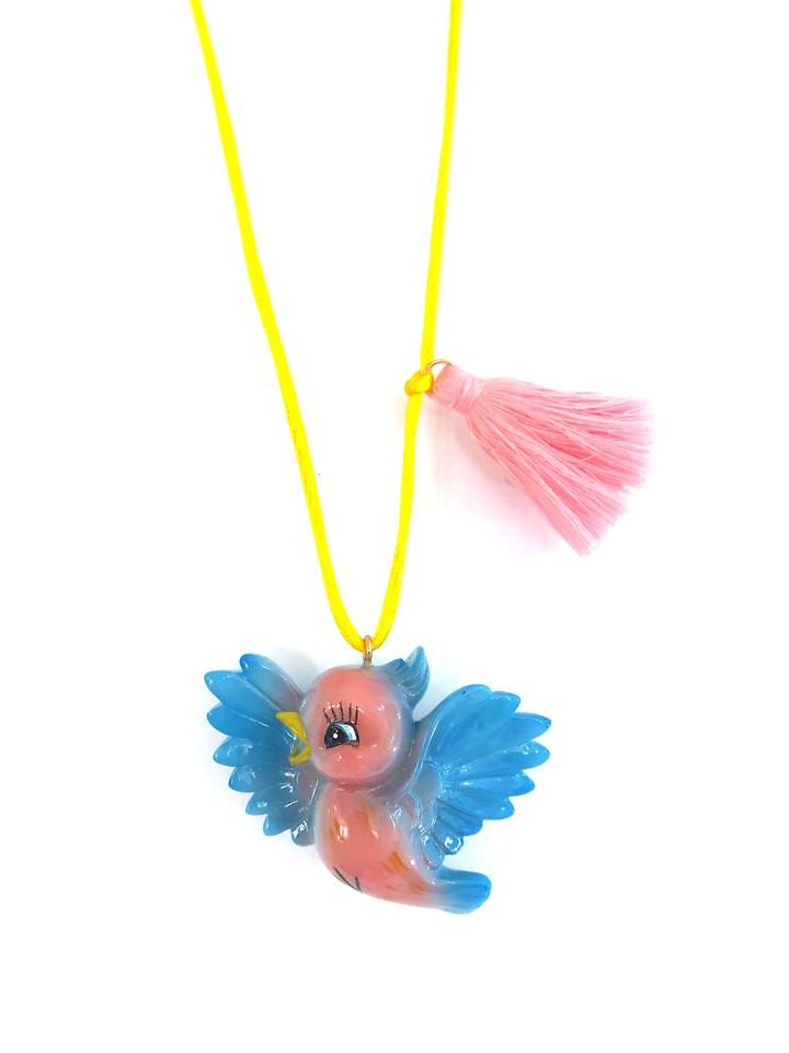 Birdie the Bluebird Necklace by Gunner & Lux