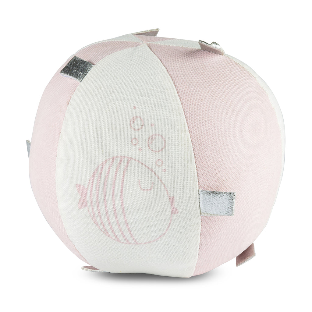 Light Pink Fish Sensory  Rattle Ball