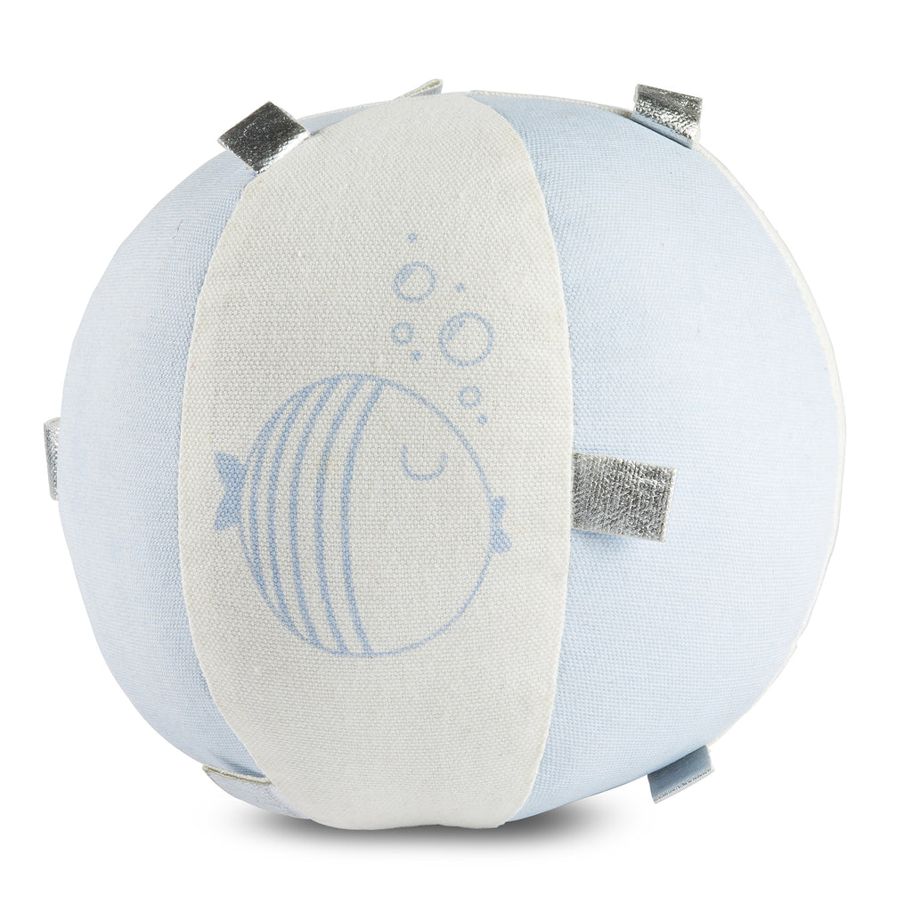Light Blue Fish Sensory  Rattle Ball