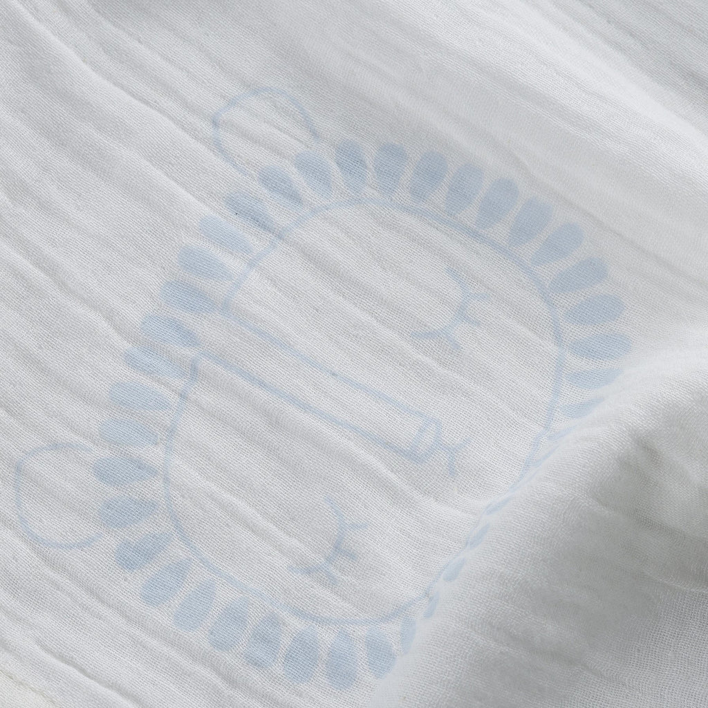 Light Blue Lion Swaddle
