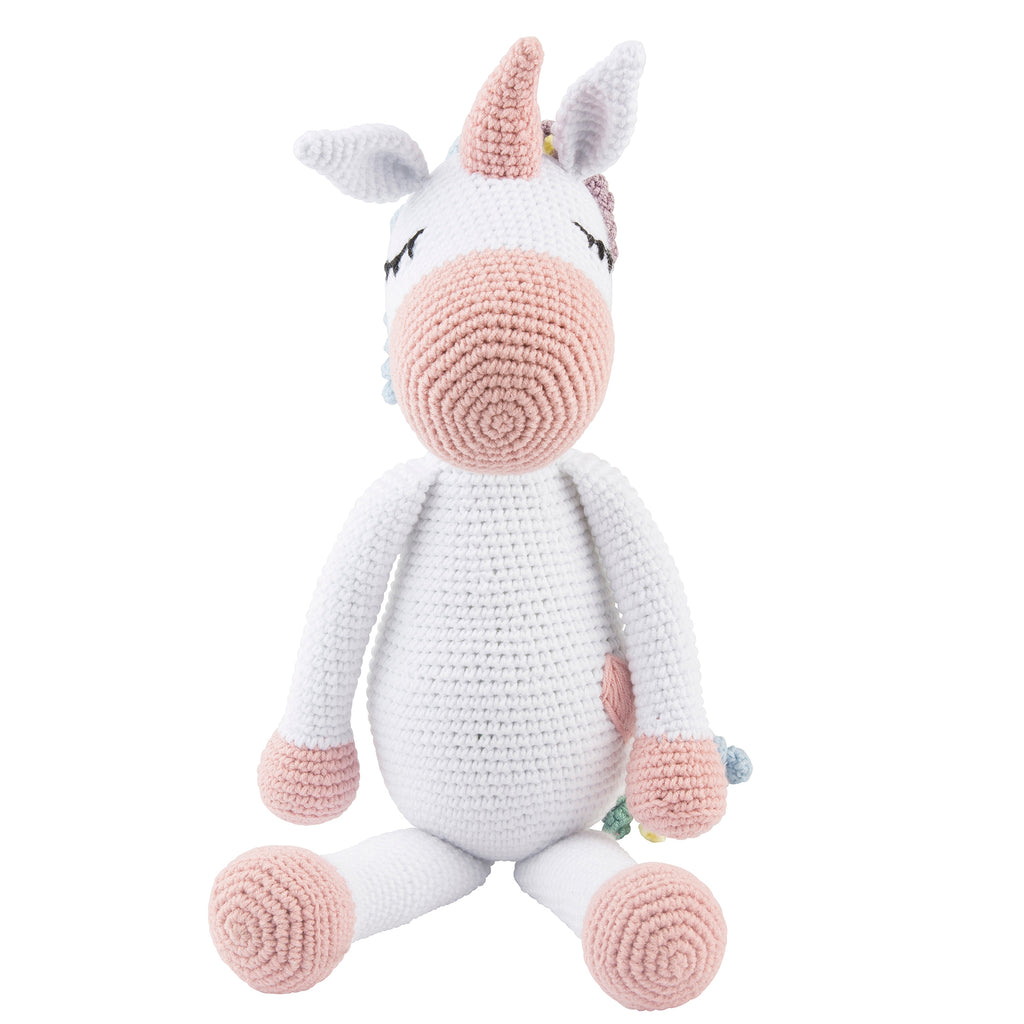 Lil' Pyar Large Knit Unicorn; Multi-Color