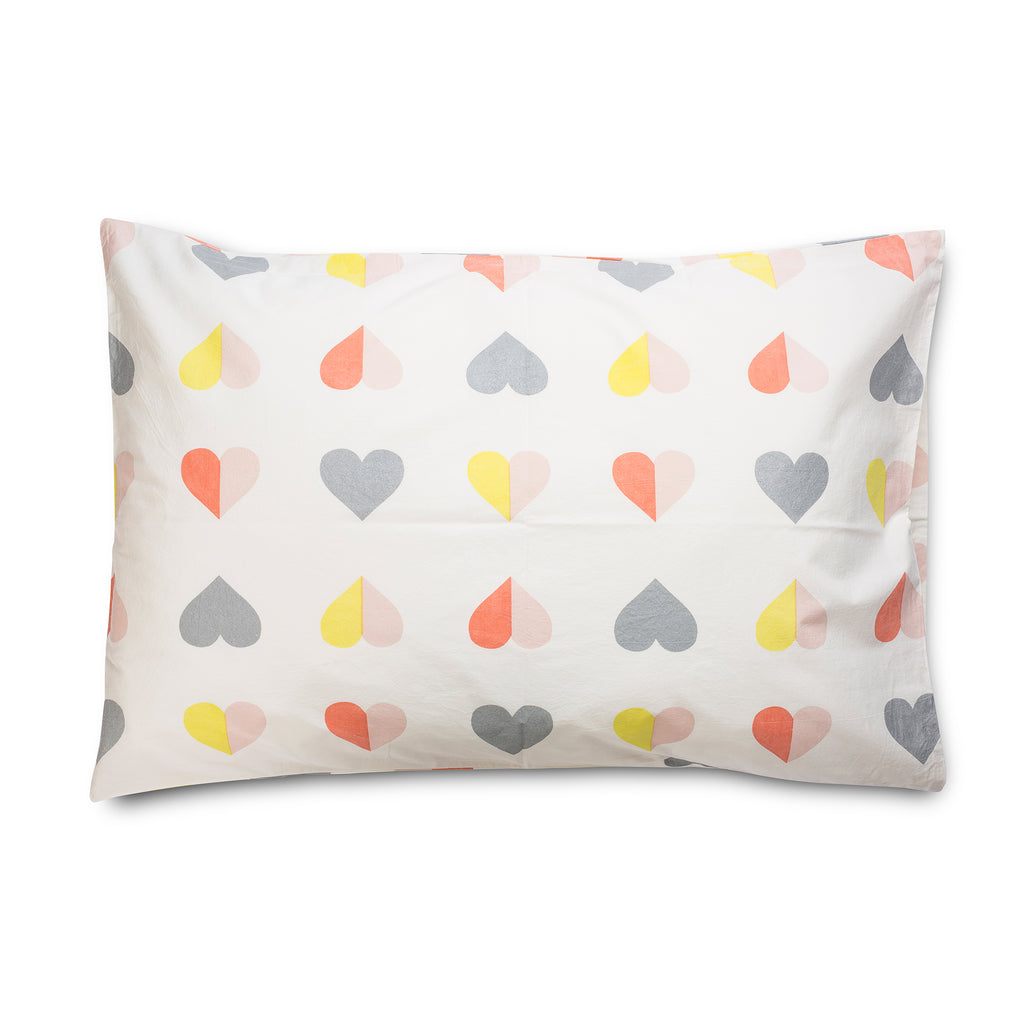 Hearts Standard Pillowcase