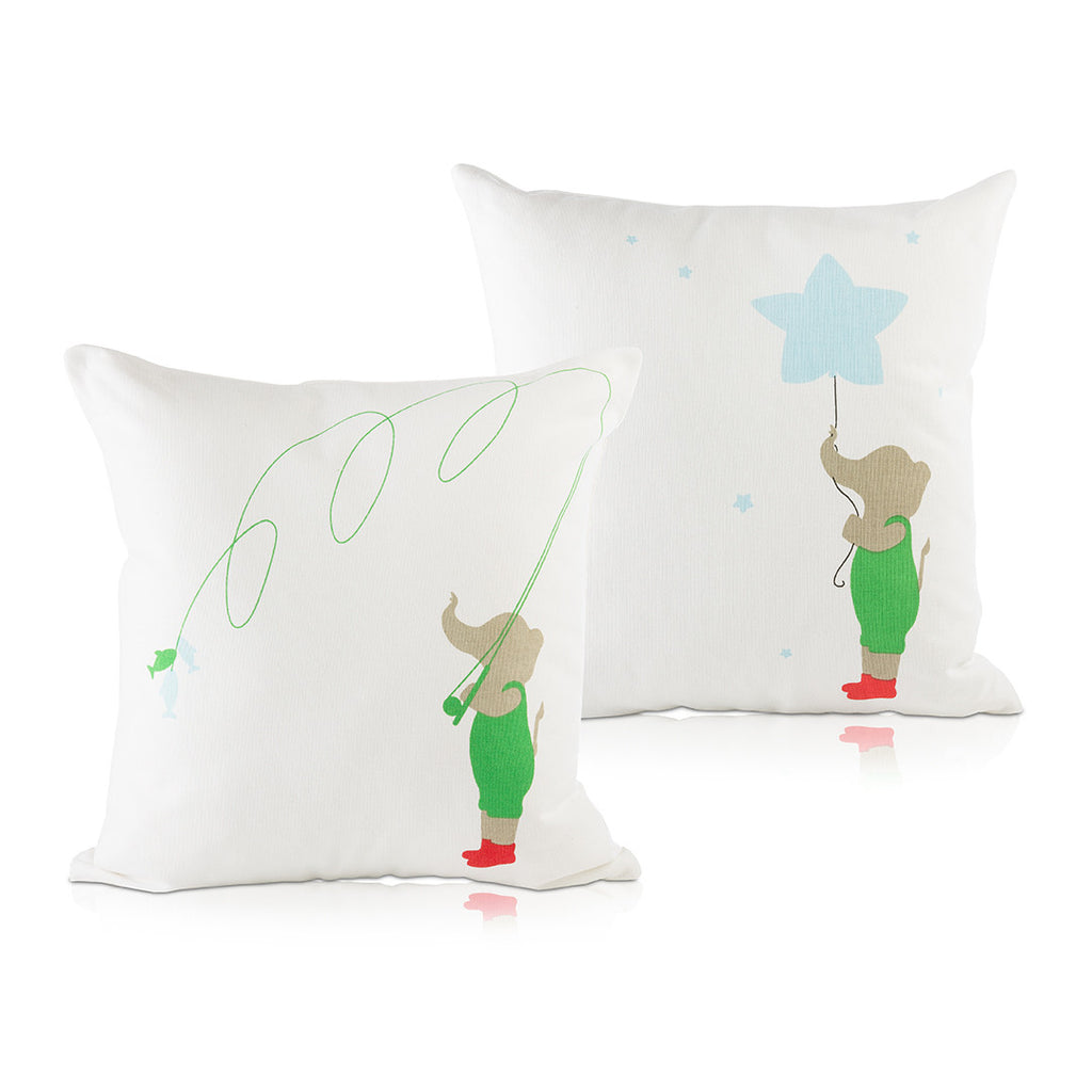 Elephant & Star Pillow Cover
