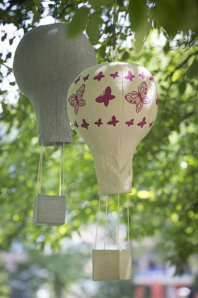 Lil' Pyar Butterflies Hot Air Balloon Mobile