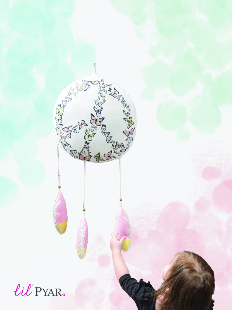 Lil' Pyar Butterfly Dream Catcher Mobile