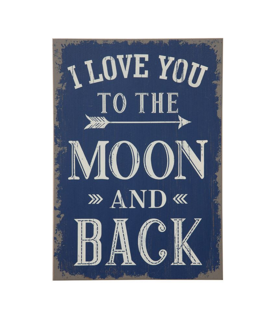 "Wall Decor ""I Love You To The Moon And Back"" by Creative Co-Op"
