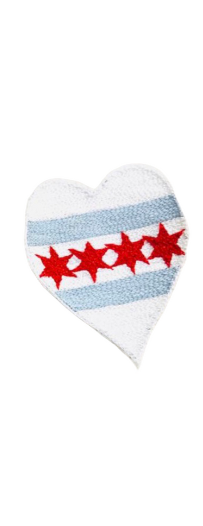 Chicago Flag Heart Patch by Pyar&Co.