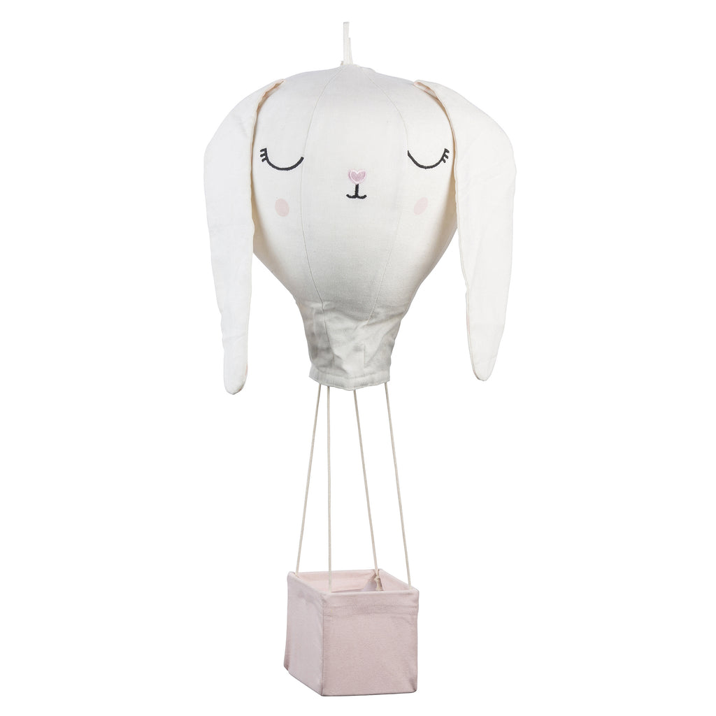 Light Pink Bunny Hot Air Balloon Mobile
