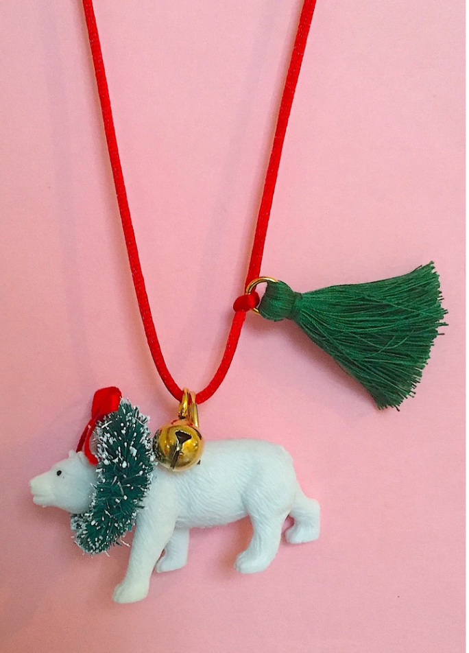 Holiday Polar Bear Necklace by Gunner & Lux