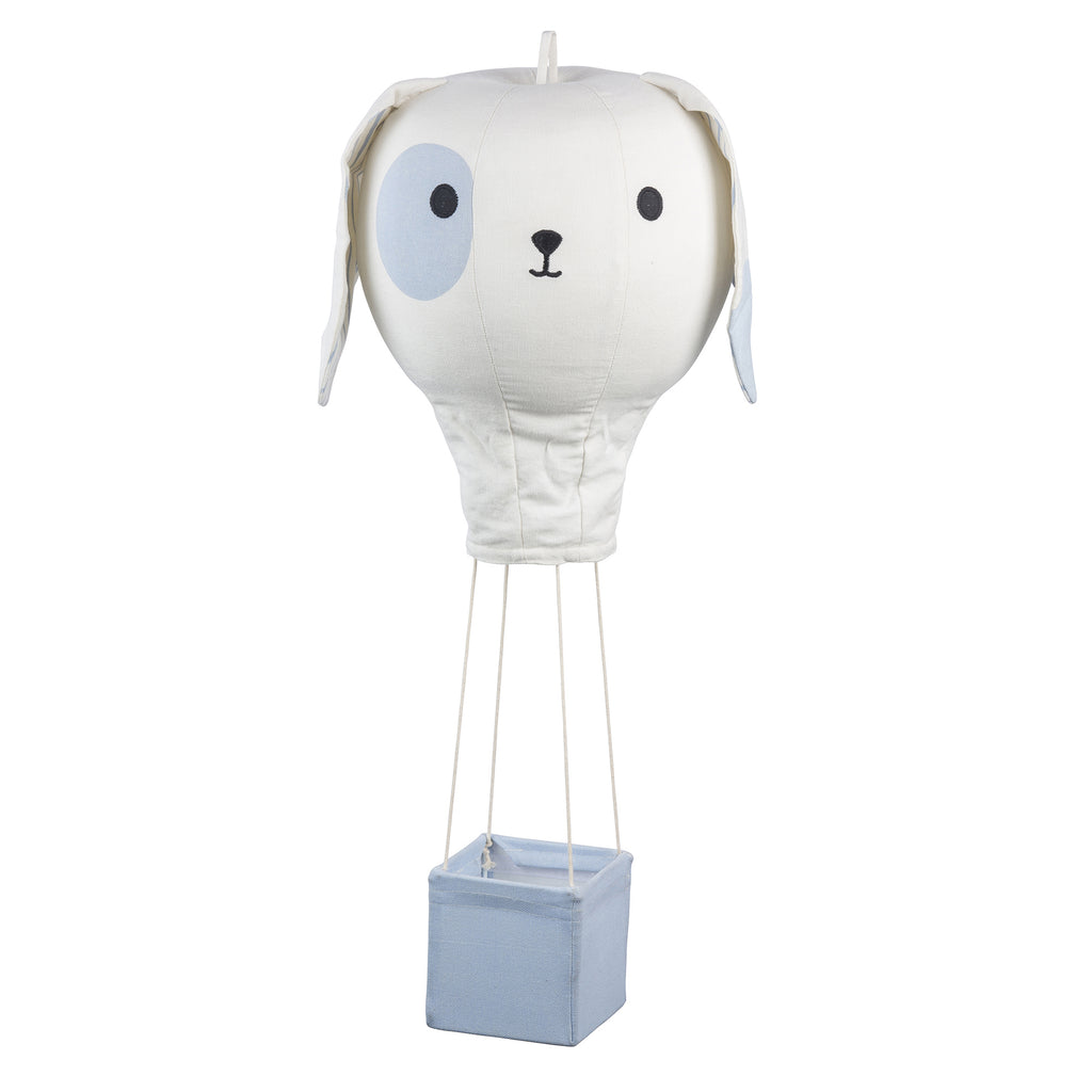 Light Blue Puppy Hot Air Balloon Mobile