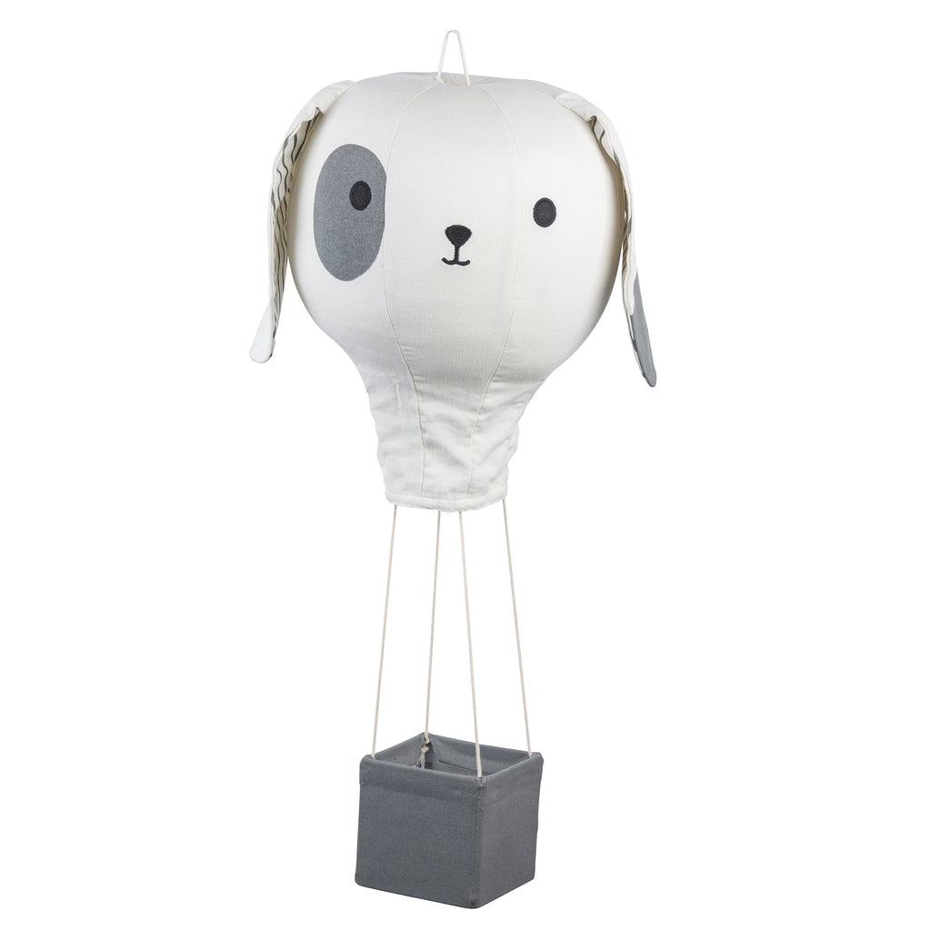 Gray Puppy Hot Air Balloon Mobile