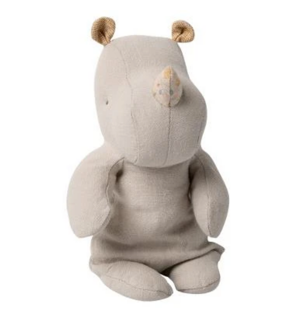 Maileg Safari Friends Gray Rhino, Small