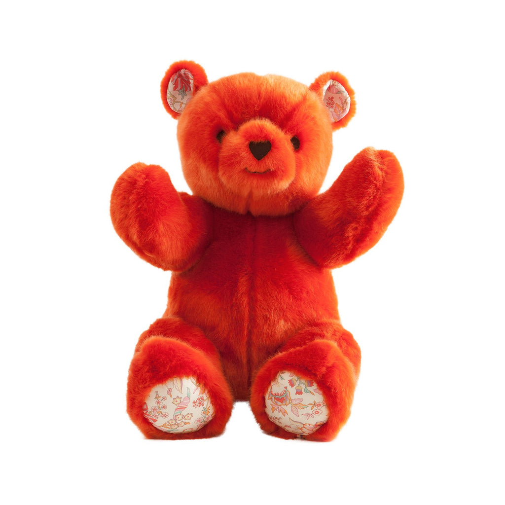 Robert the Bear, Orange by Pamplemousse Peluches