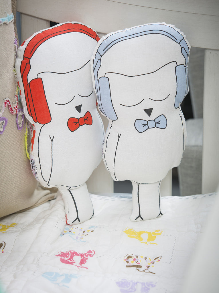 Ollie Owl Cut-out Pillow