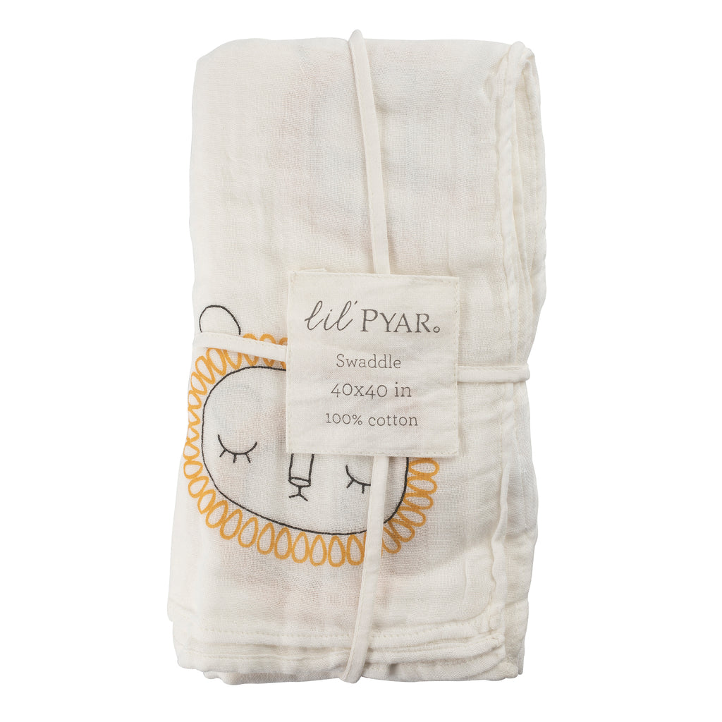 Saffron Yellow Lion Swaddle