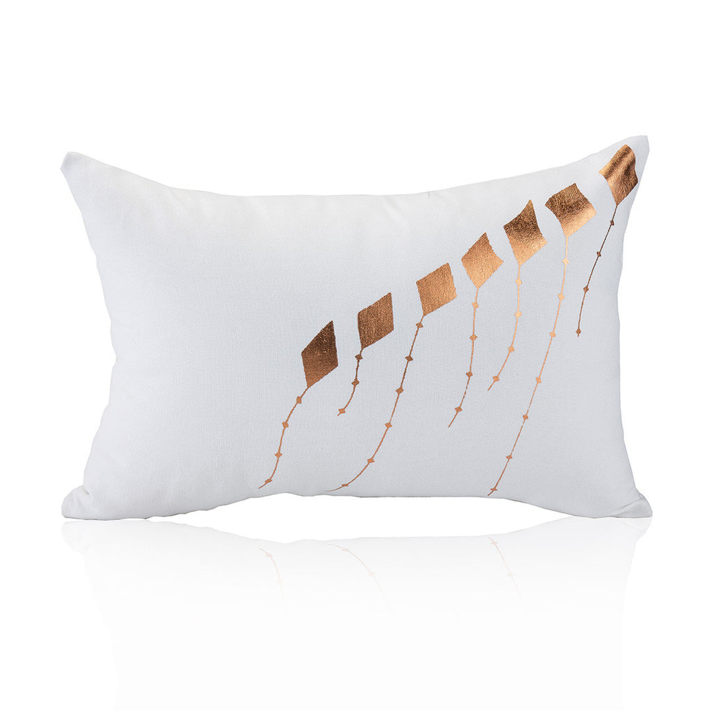 Kites Pillow in copper