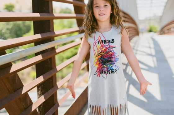 Mess Maker Fringe Dress by Mini Shatsu