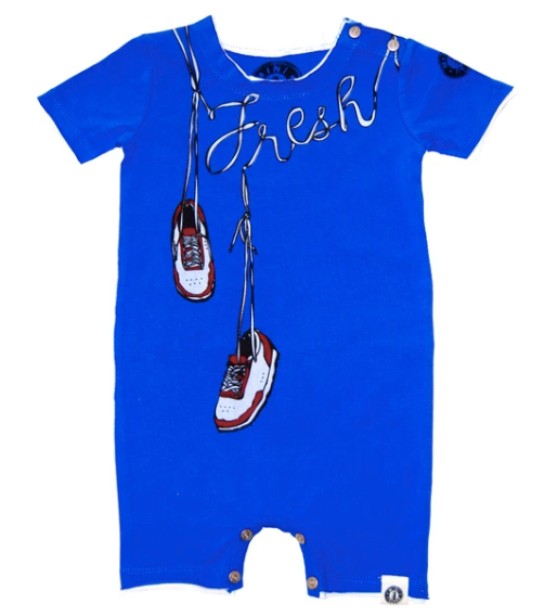 Fresh Kicks Romper by Mini Shatsu