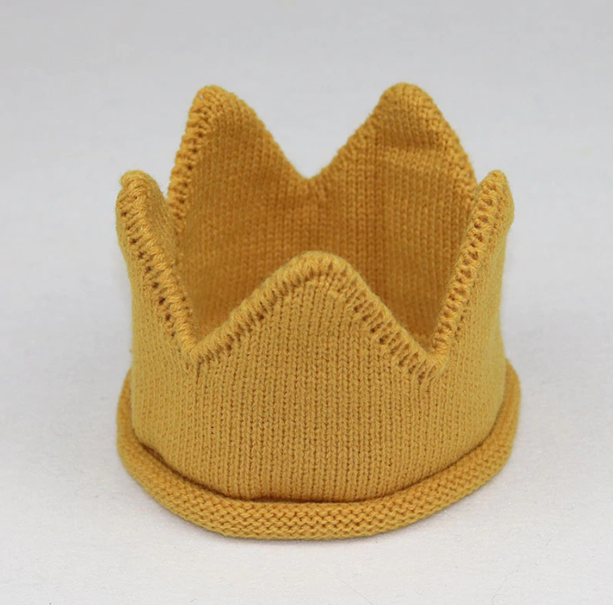 Knitted Crown in variety of colors