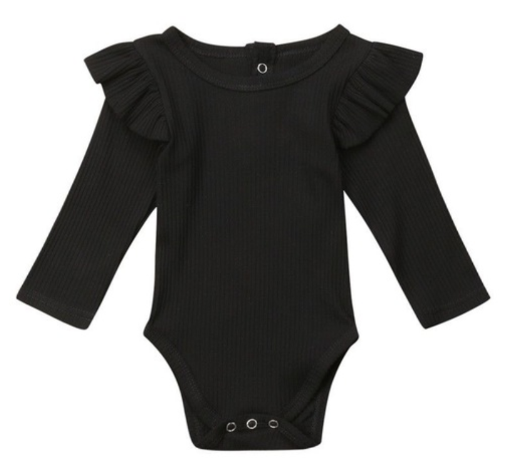 Long - Sleeve Onesie with Ruffles