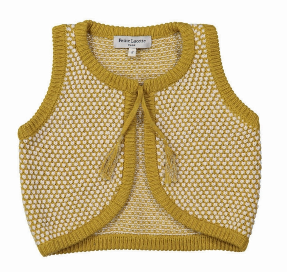 Orcher Baby Knitted Vest by Petite Lucette
