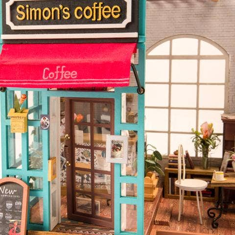 Simon's Coffee DIY Miniature Dollhouse Kit
