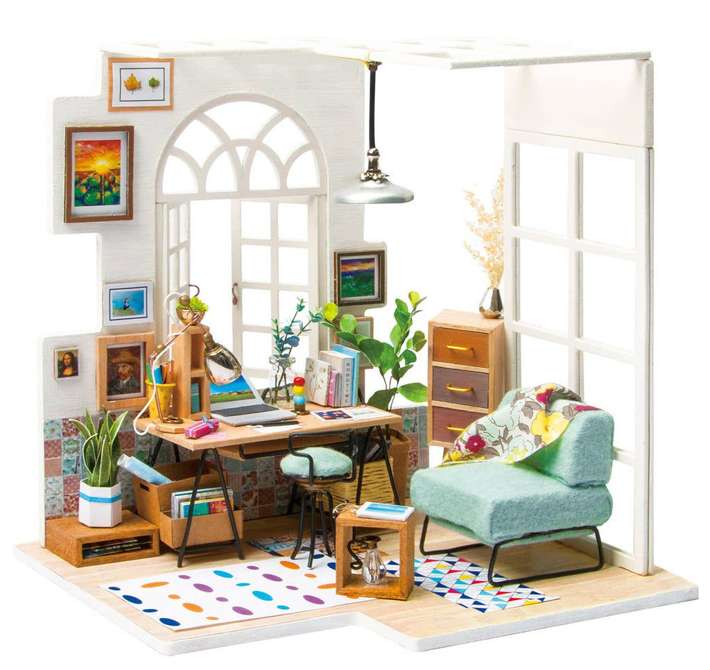 Soho Time, DIY Miniture Dollhouse Kit