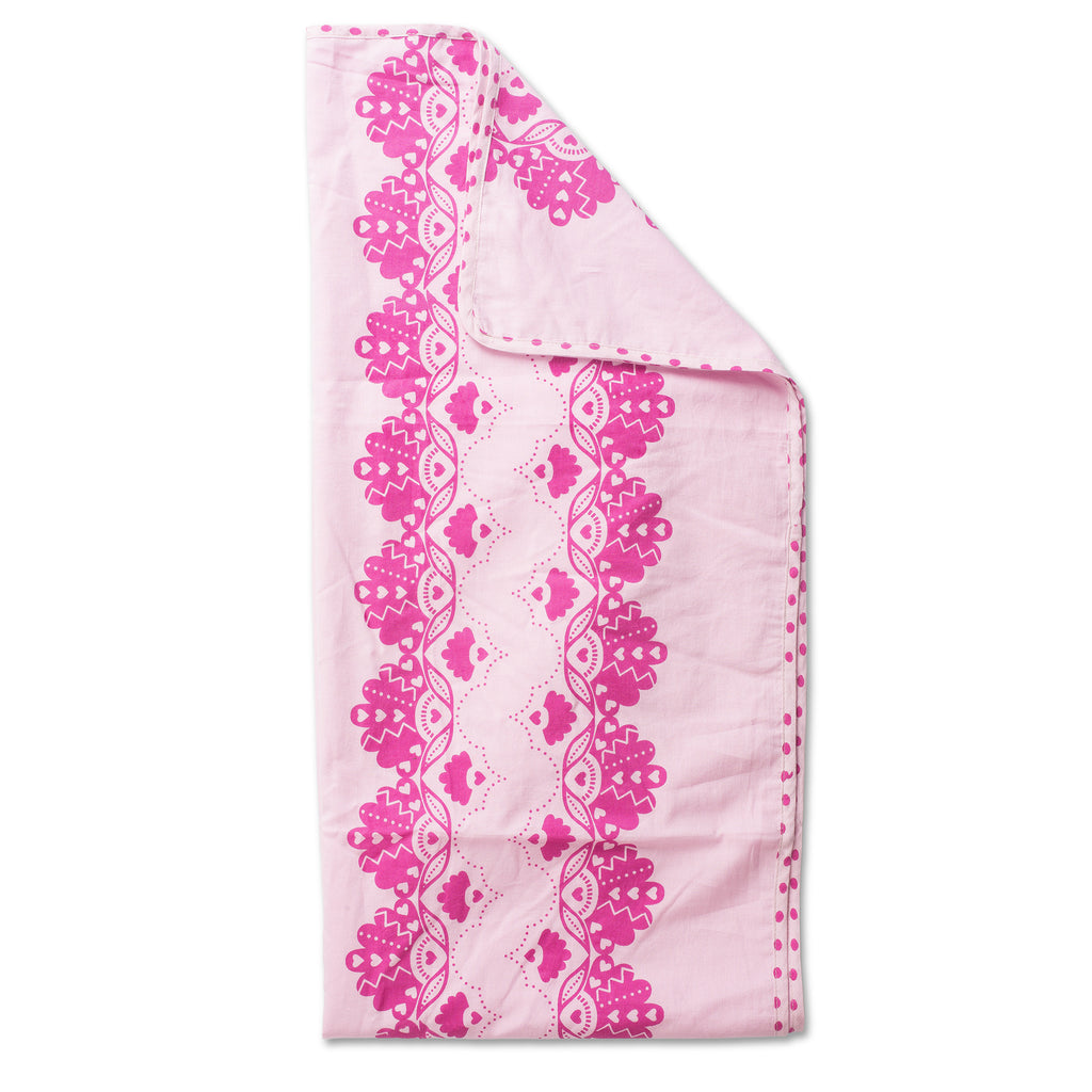 Lil' Pyar Crown of Feathers Tanna Baby Blanket, Pink