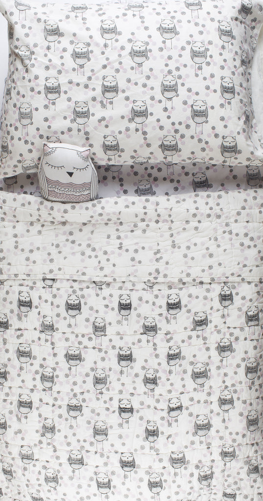 Lil' Pyar Whoo Owl | Sheet Set | Twin
