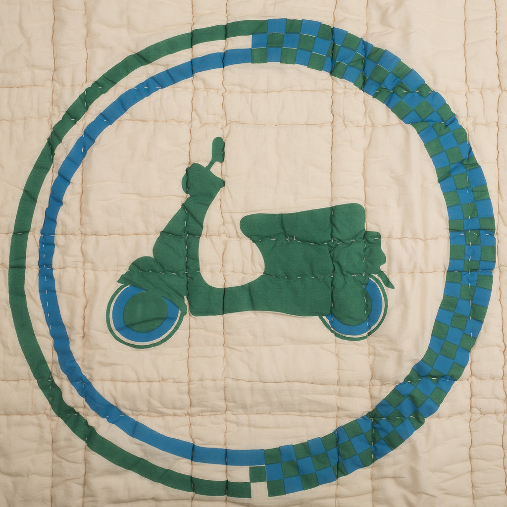 Lil' Pyar Spirited Scooter, Reversible Baby Quilt