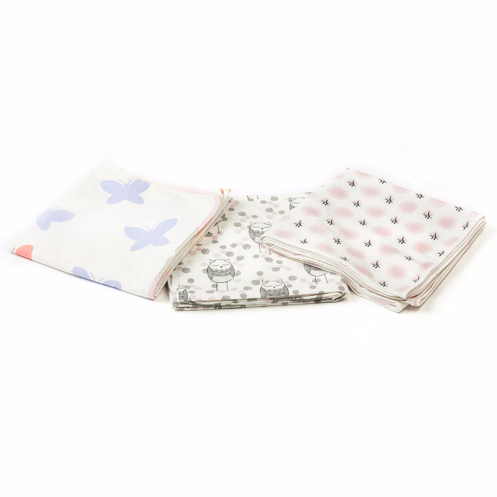 Lil' Pyar Butterfly Baby Tanna Blanket, Lavender