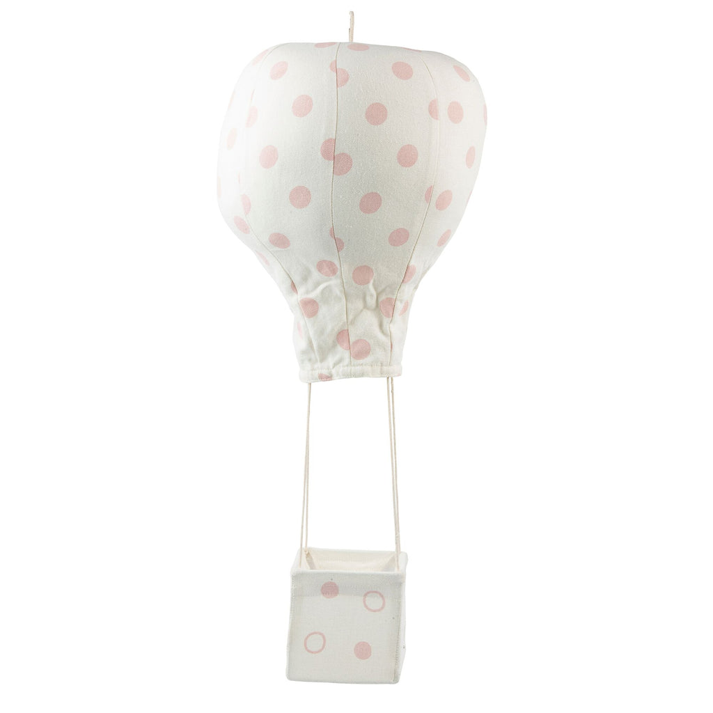 Light Pink Polka Dot Hot Air Balloon Mobile