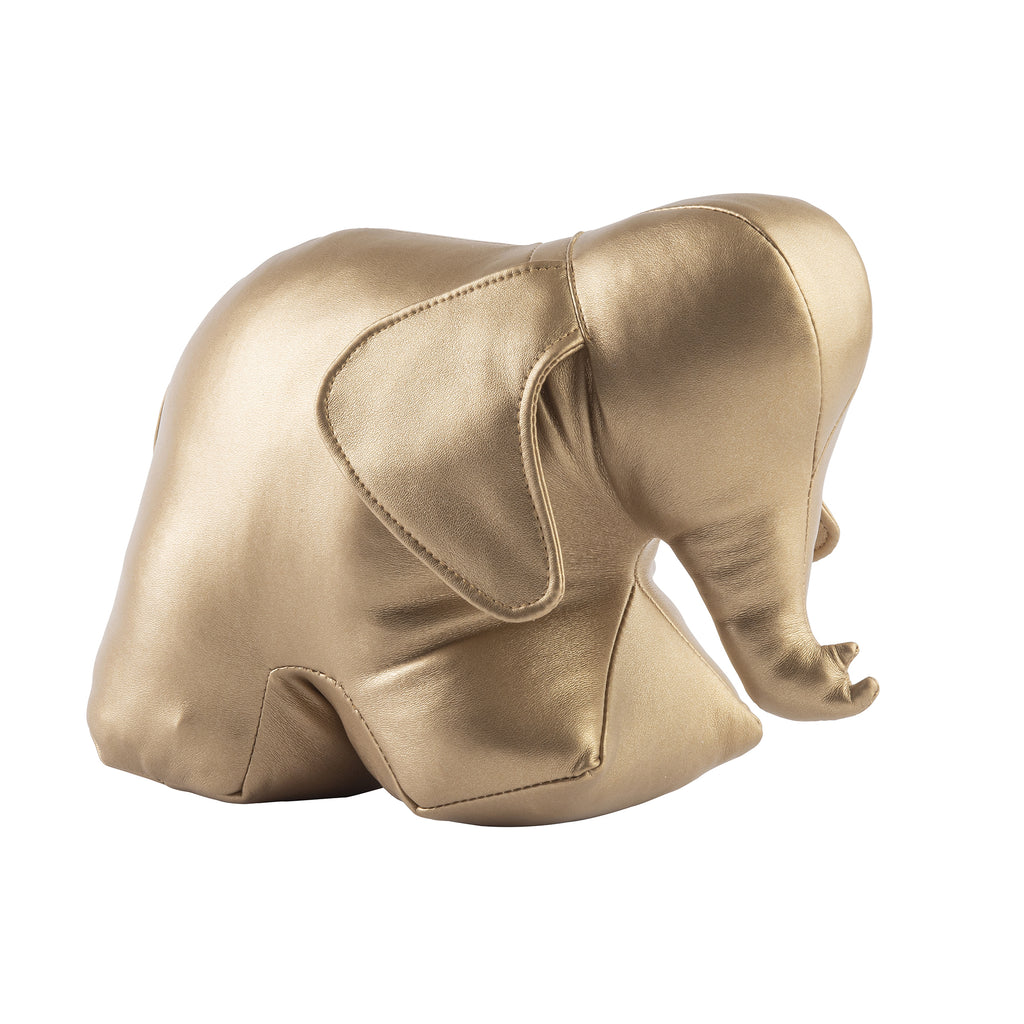 Elephant Bookend/Doorstop, Metallic Gold