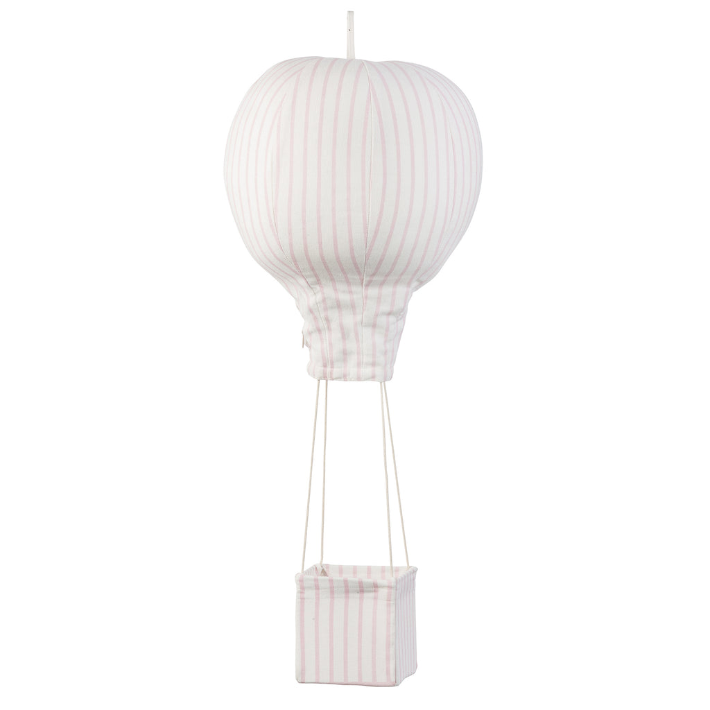 Light Pink Pinstriped Hot Air Balloon Mobile